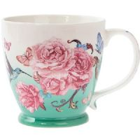 Breakfast Mug / Cup 350ml Capacity - Oriental Blossom